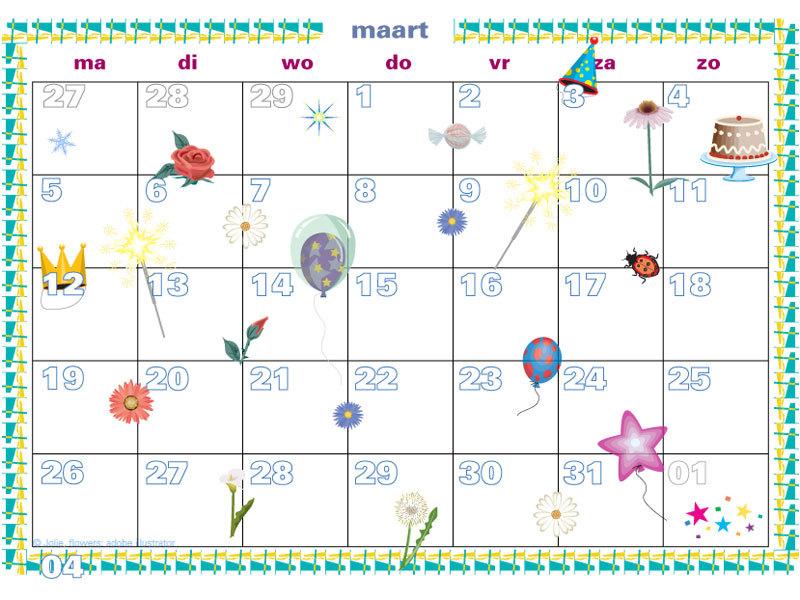 Vaak Zelf Verjaardagskalender Maken En Printen #UCG61 - AgnesWaMu &RM54
