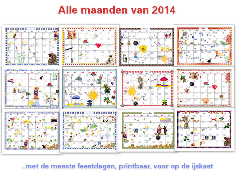oor 2014 heb ik een complete downloadbare+printbare kalender (PDF