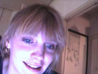 Foto Petra, op mijn webcam, 1999